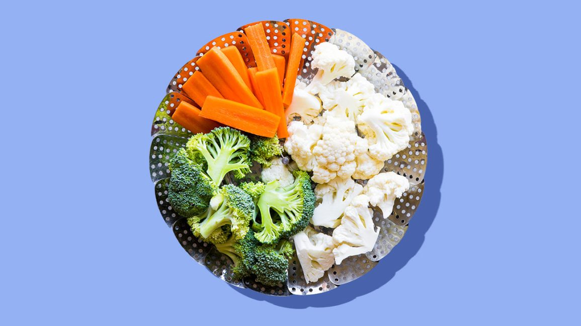 fresh cauliflower, broccoli, and carrots