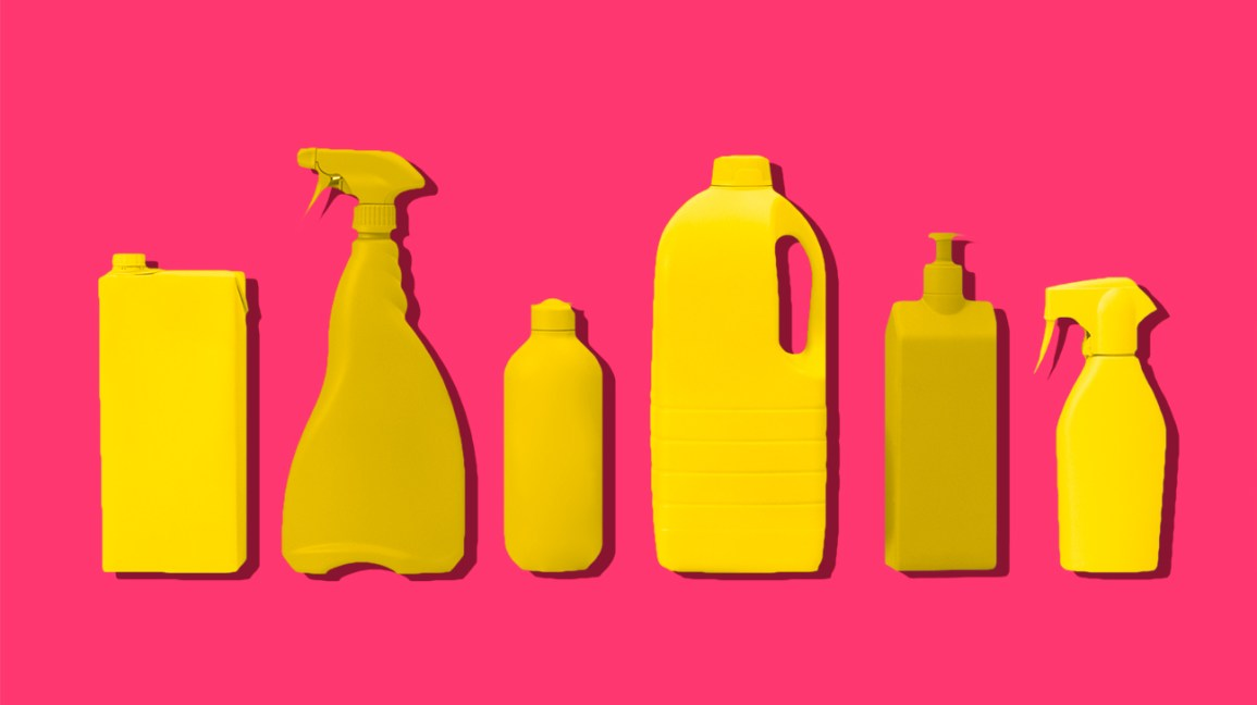 cleaning products colorful