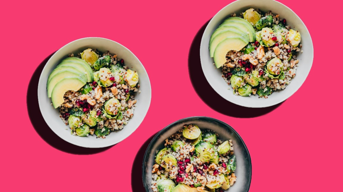 quinoa and vegetable bowl