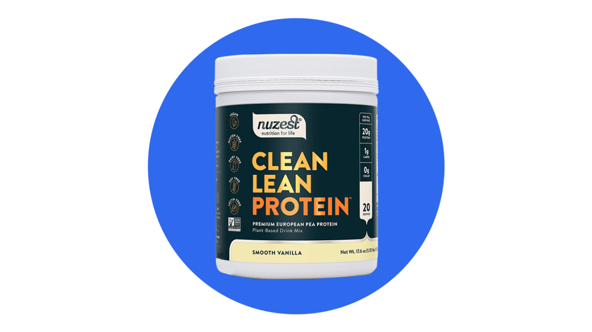 nuzest plant-based protein powder