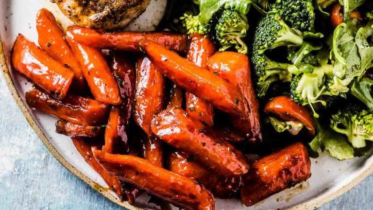 spicy honey roast carrots