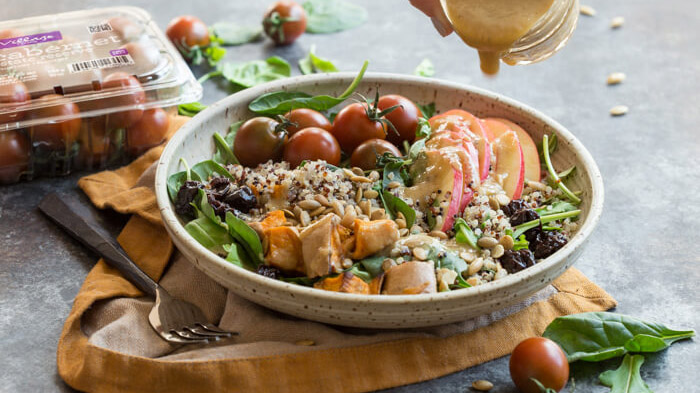 vegetarian harvest grain bowls