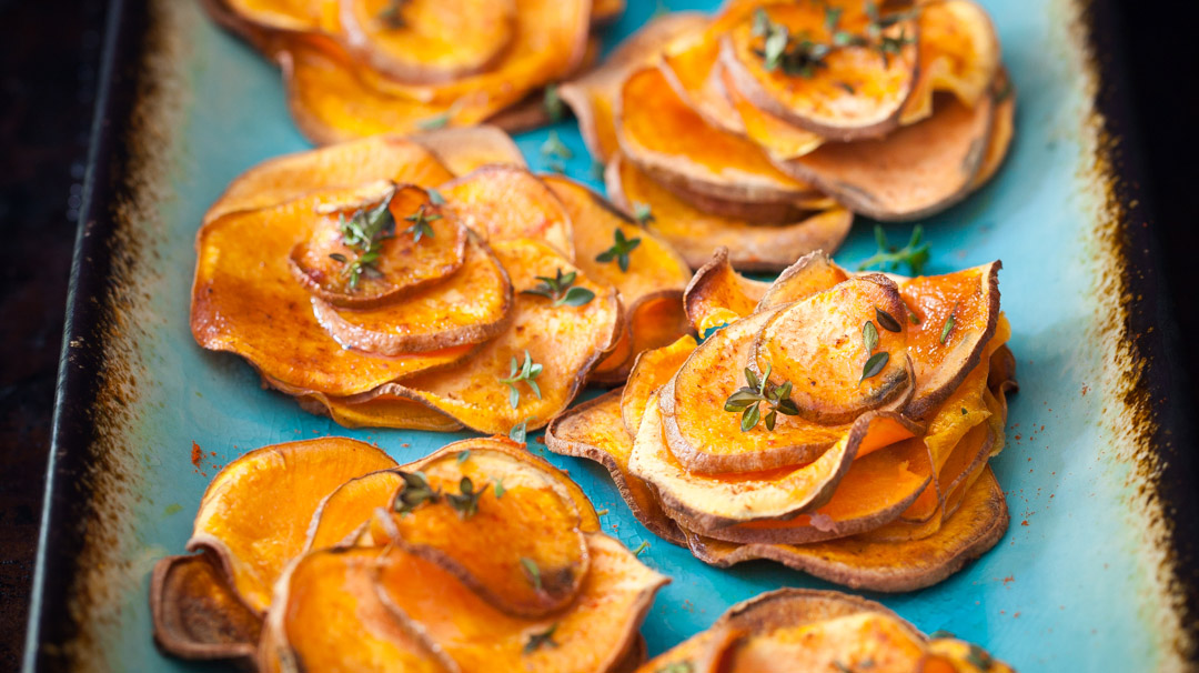 Baked Sweet Potato Roses