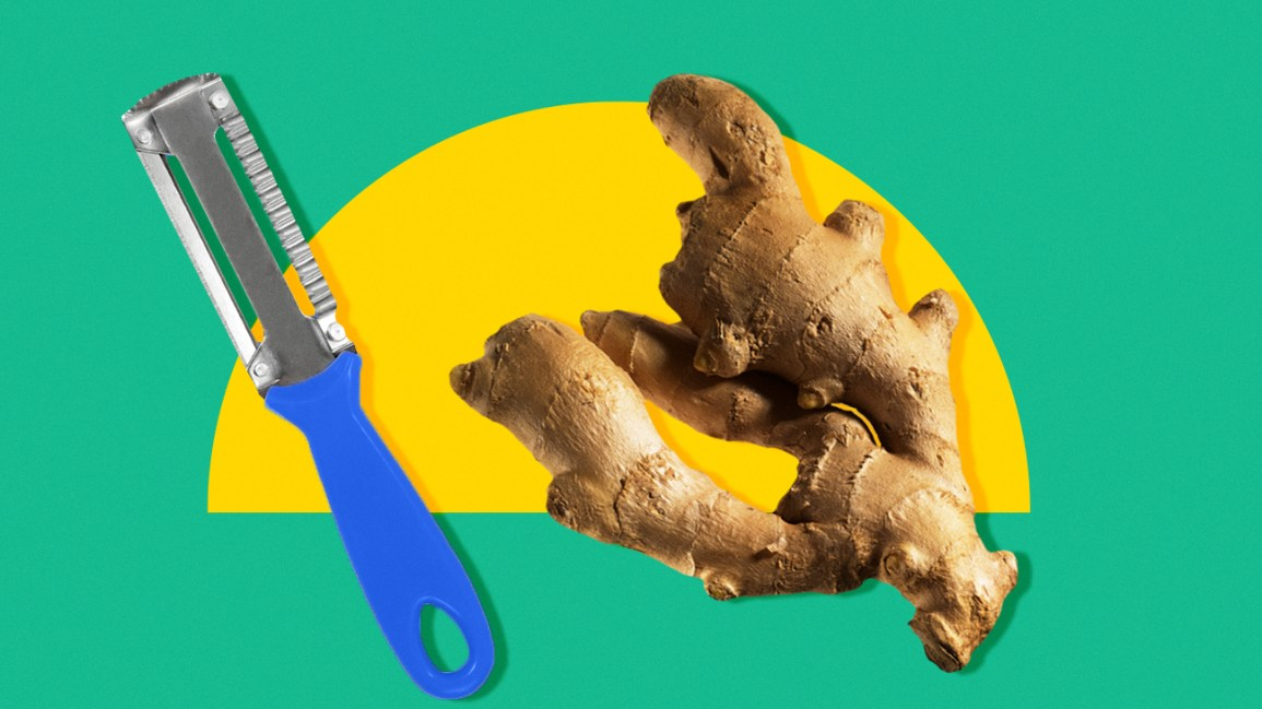 kitchen hacks for peeling tricky root veggies
