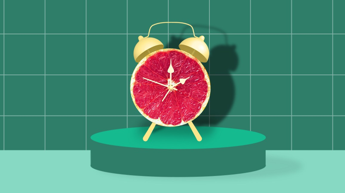 fruit clock showing what time to eat header