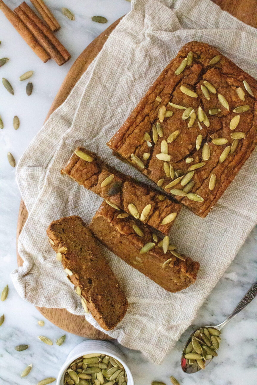 vegan pumpkin banana bread a fall food idea