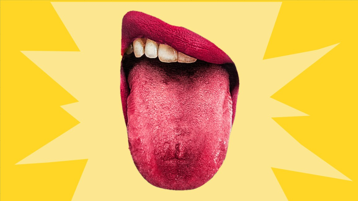 mouth with extended tongue representing supertaster header