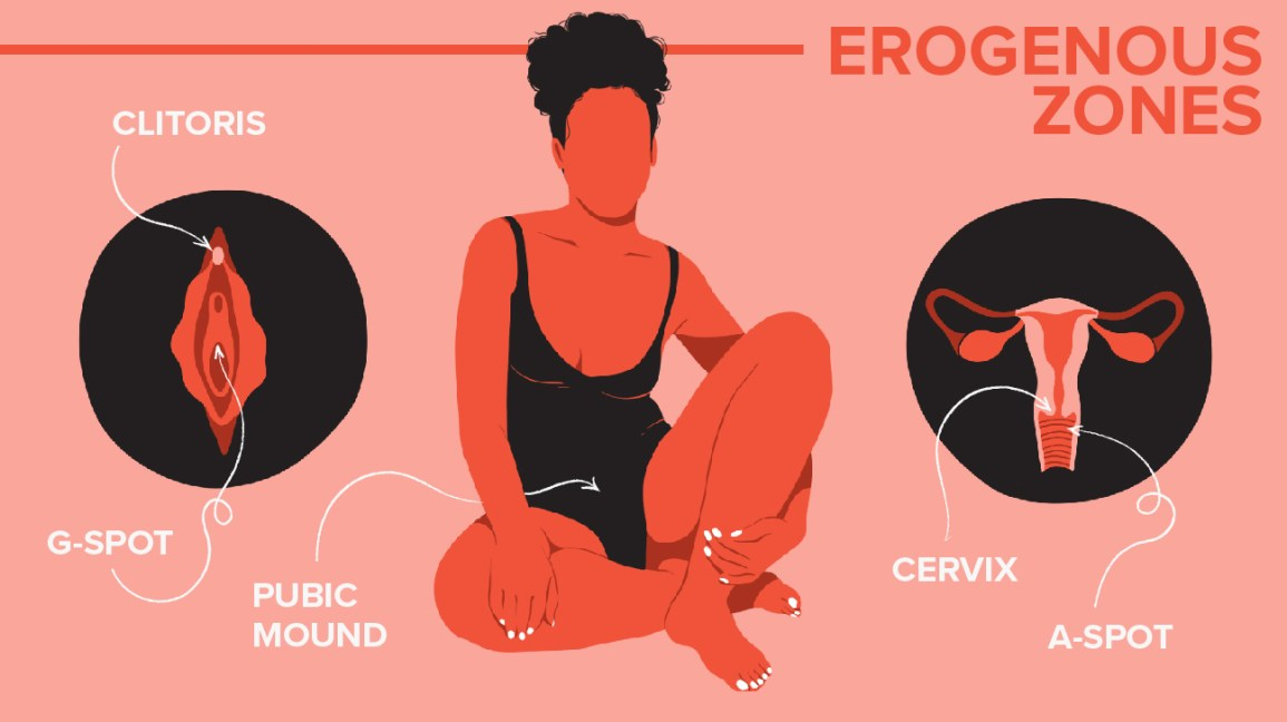 31 Erogenous Zones & How to Touch Them: A Chart for Men & Women