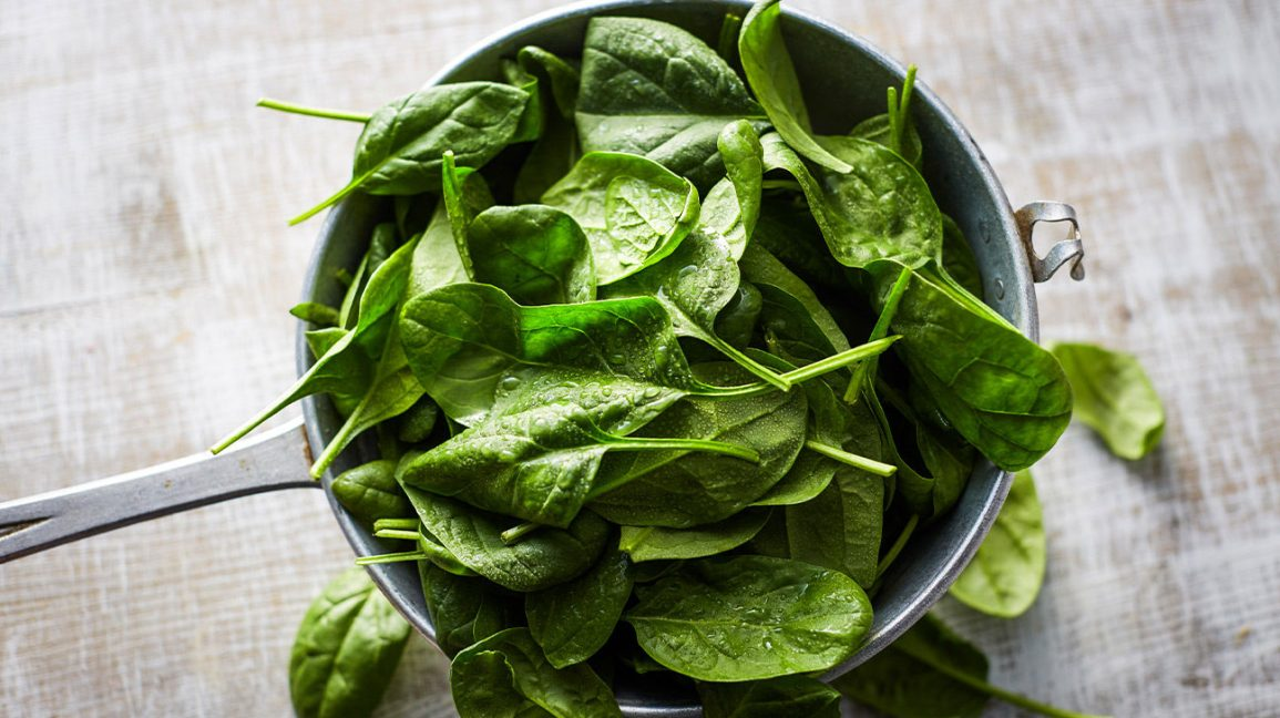 frozen spinach leaves
