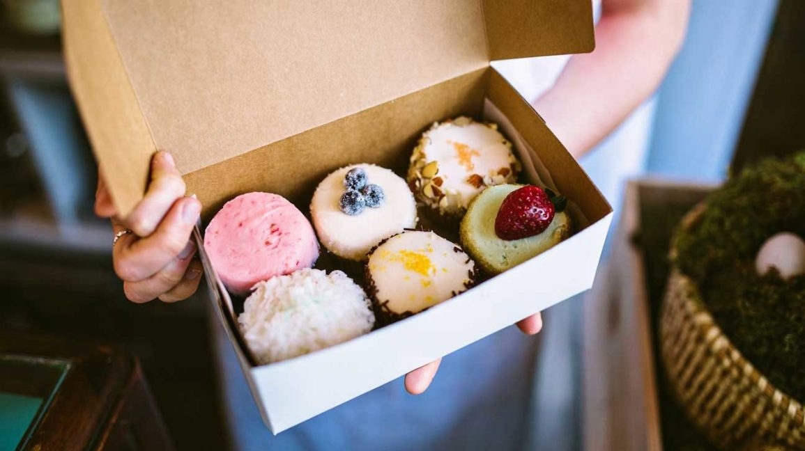 sweet pastries in a box