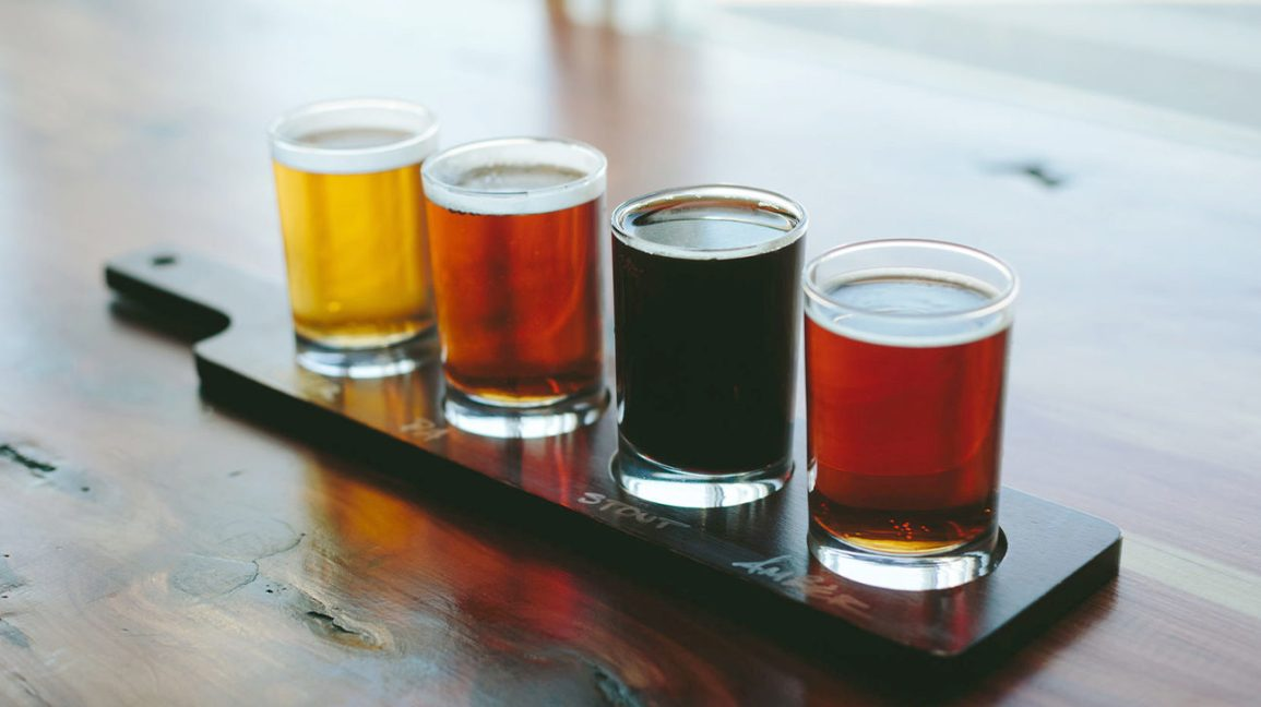 Four beer samples