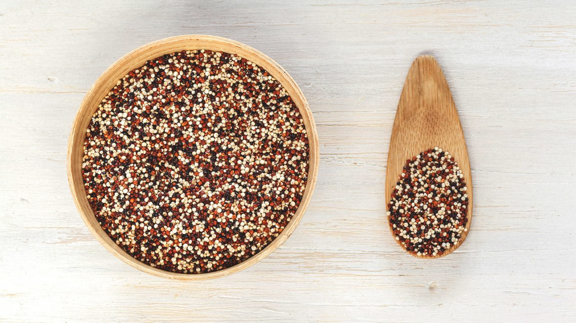 A bowl of quinoa as an alternative to rice