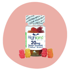 Garrafa de Highland Pharms Gummies CBD