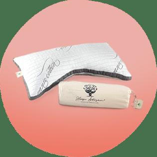 Imagem do travesseiro dorminhoco do artesão do sono