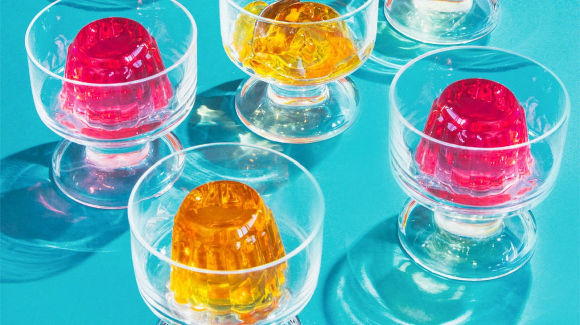 Jello in glass bowls