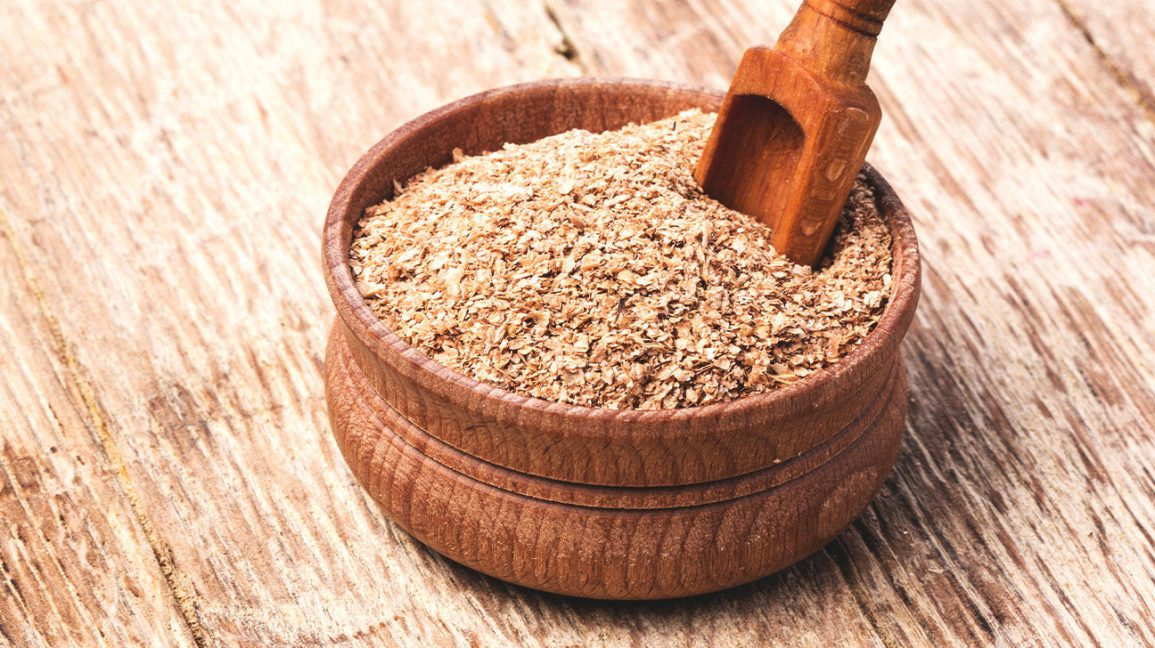 A bowl of wheat bran
