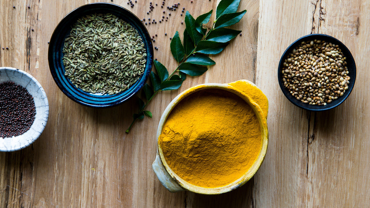 Curry powder and other herbs and spices
