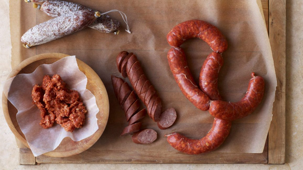 Different types of sausage
