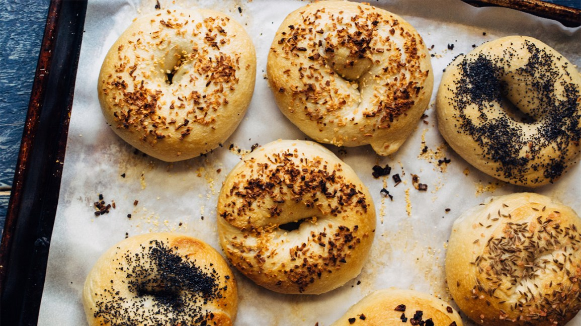 Carb-rich wheat-based bagels