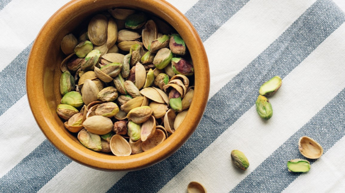 pistachios in a bowl