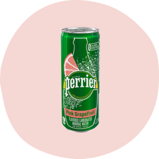 Perrier pink grapefruit carbonated mineral water