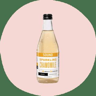 Sound sparkling chamomile tea