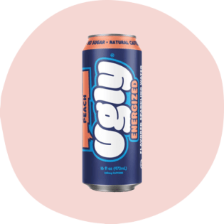 Ugly peach sparkling water