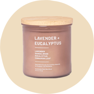 Lavender and eucalyptus candle from target