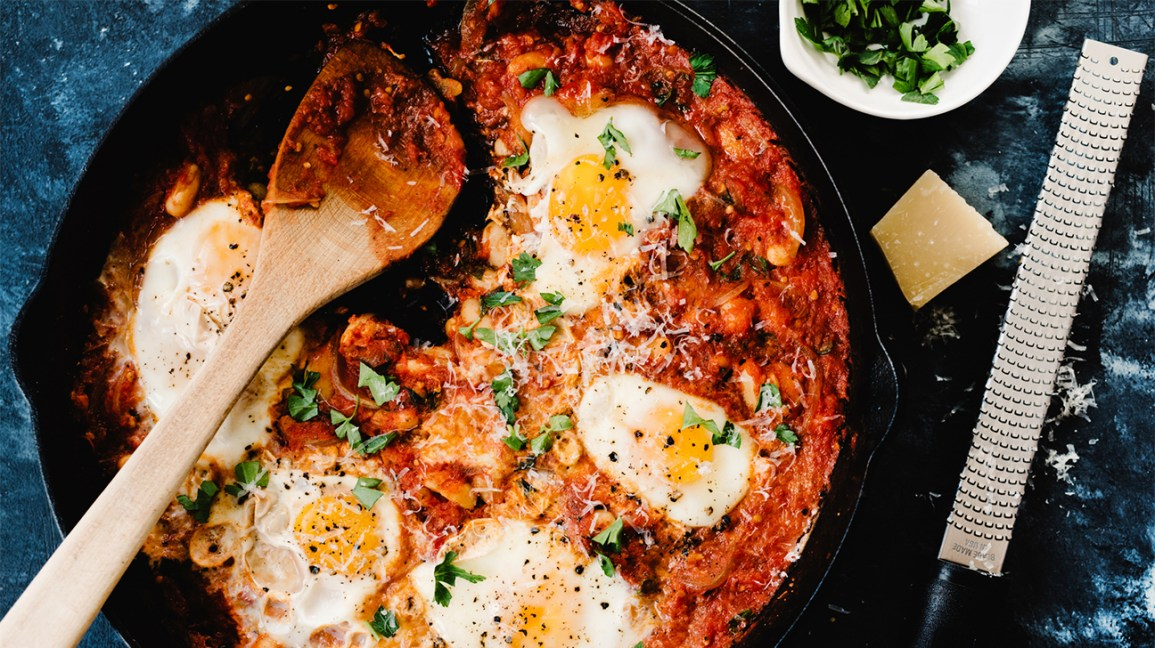 Shakshuka egg recipe