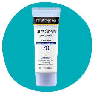 3 oz. squeeze tube of Neutrogena Ultra Sheer Dry-Touch sunscreen