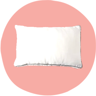 O travesseiro Saatva tem uma borda reforçada para loft e altura