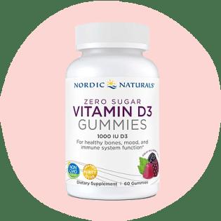 Nordic Naturals' Zero Sugar Vitamin D3 Gummies 1,000 IU