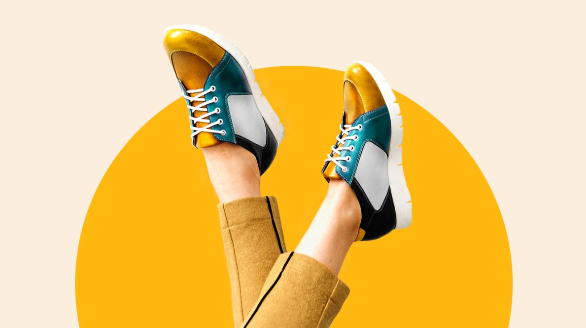 Women Casual Sneakers Mid Heel Lace Up Comfy Fashion Sports Shoes US Size^//