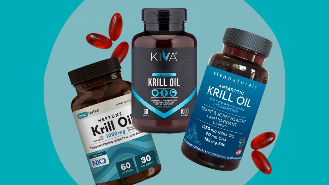 Krill oil illustration