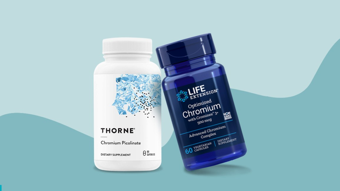 selected chromium supplement bottles