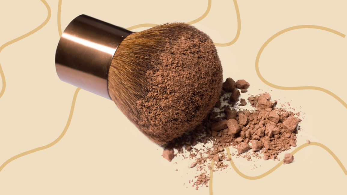 foundation brush with powder