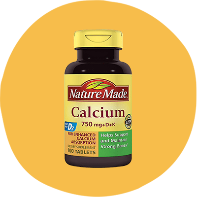4. Nature Made's Calcium 750 mg + D + K