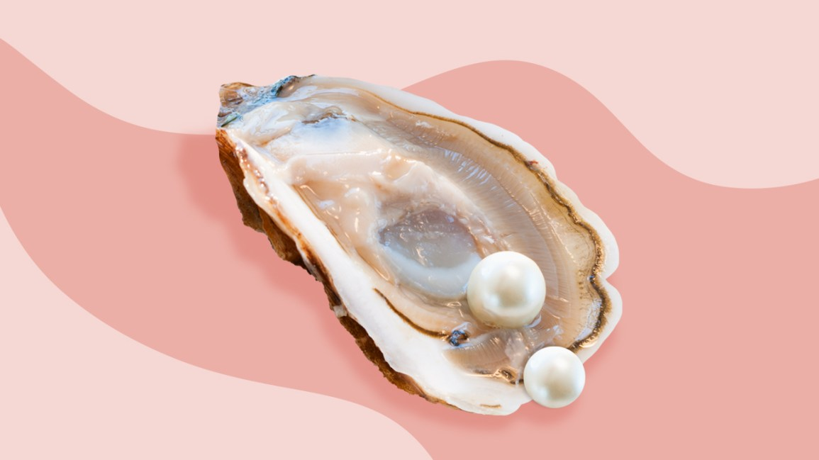 fourchette piercing on an oyster