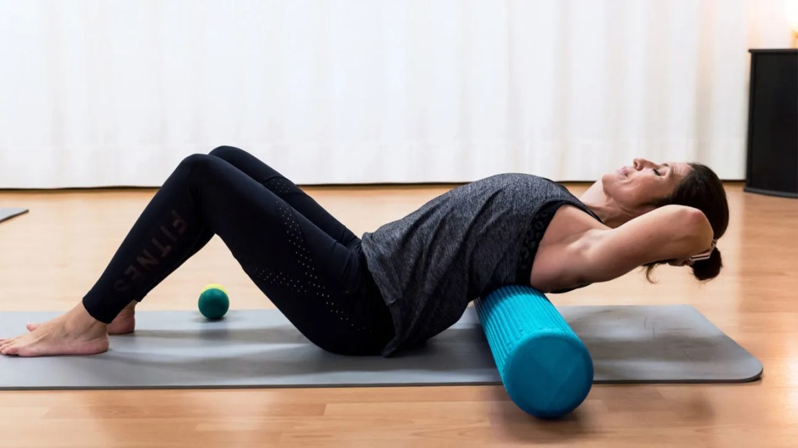 Foam Back Roller Yoga and Gym Muscle Release Massage Pilates Exercise Waist