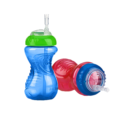 2 x Children Sip a Cup Tumblers with Built in Straw Plastic Sippy Cu~JPCNARMJ