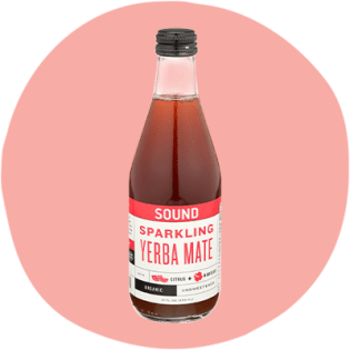 Sound Sparkling Organic Yerba Mate with Citrus and Hibiscus