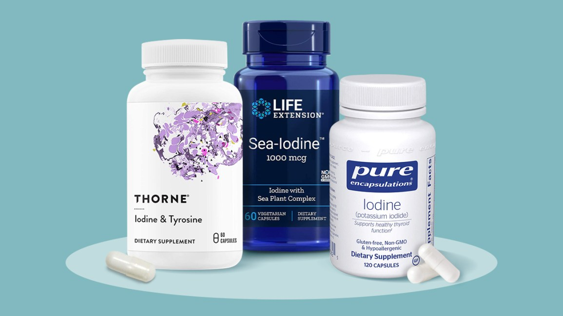 A selection of iodine supplements