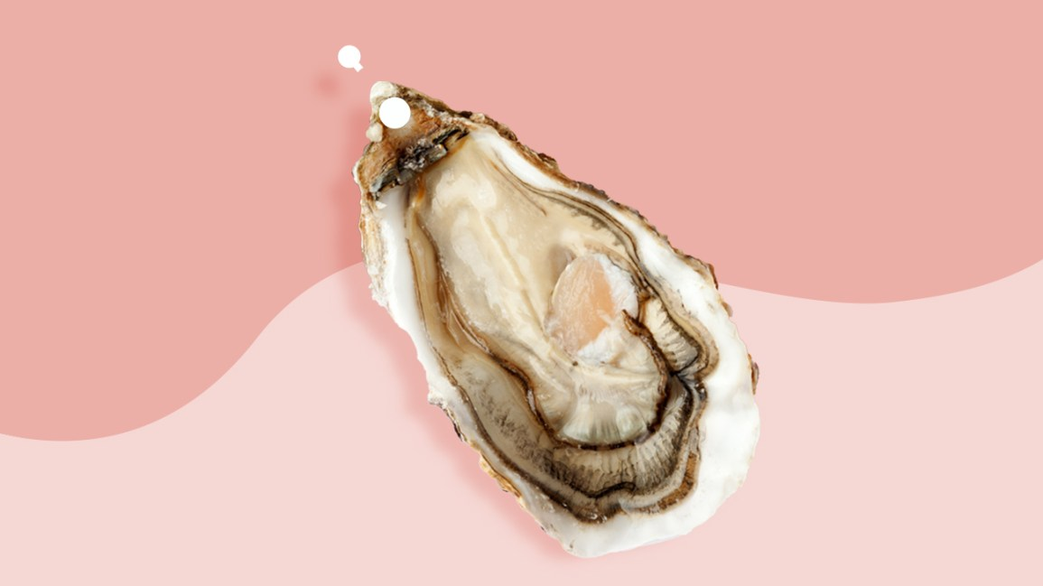 christina piercing shown on an oyster