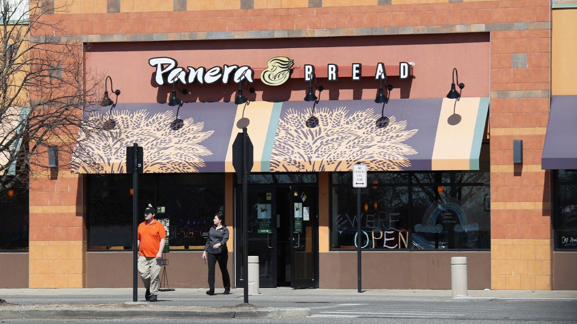 a Panera Bread storefront
