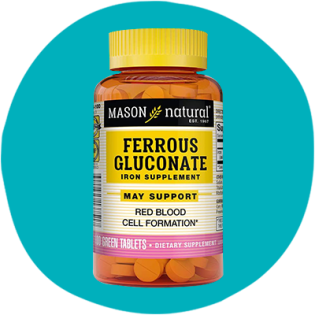 Mason Natural's Ferrous Gluconate