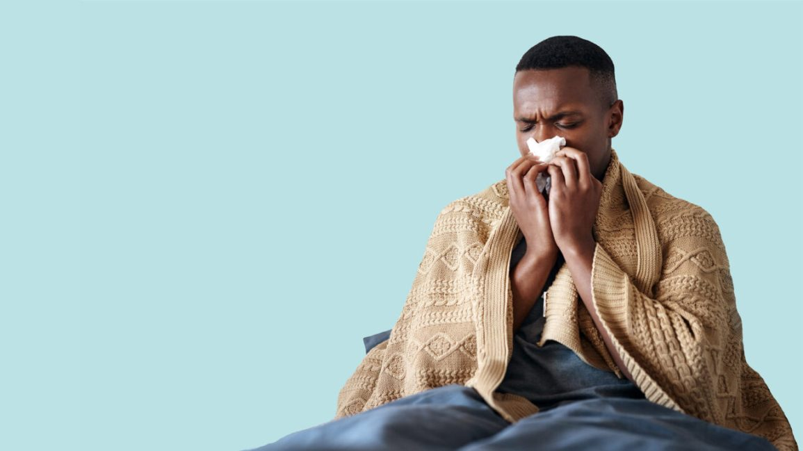 young man with catarrh