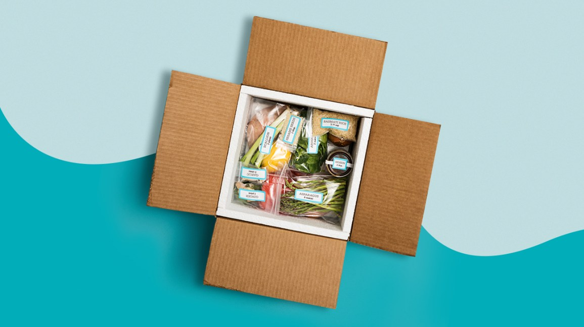 packaged meal in a box