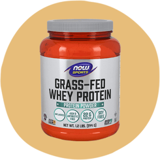 NOW Sports Unflavored Grass-Fed Whey Protein