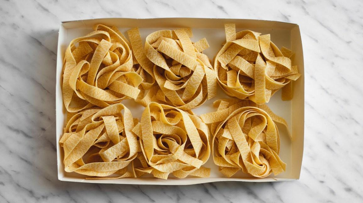 dry whole wheat pasta noodles
