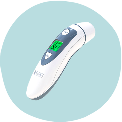 iProven Baby Forehead and Ear Thermometer DMT489 - Finest Thermometer for Each Kind of Measurement